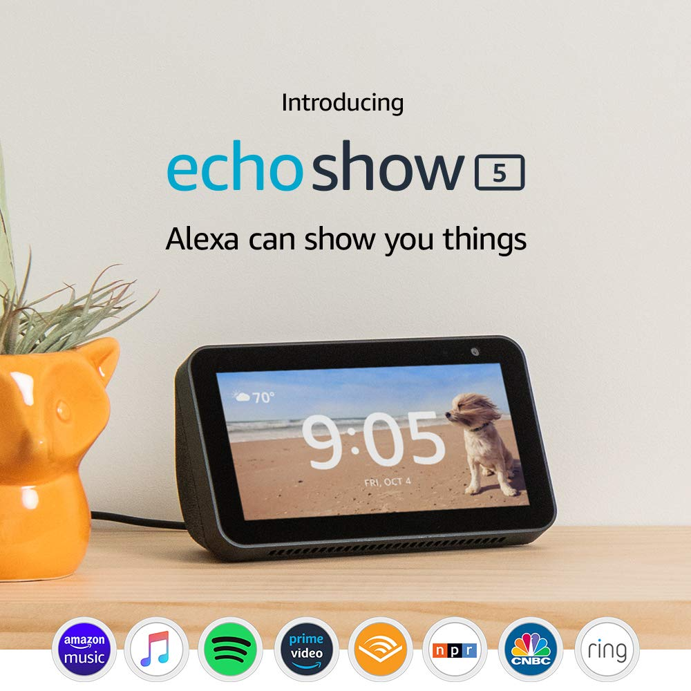 Introducing Echo Show 5 – Compact smart display with Alexa - Charcoal