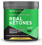 Keto Science Real Ketones Powder Dietary Supplement, Sugar-Free Lemon Drink Mix, Supports Carb-Fighting Diet and Weight…