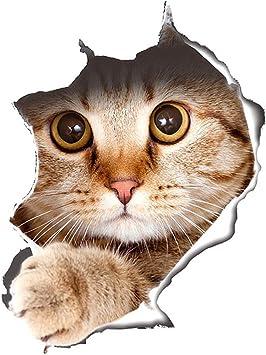 3D Katze Muster Aufkleber Wandaufkleber Wandsticker Spiegel Wandtattoo