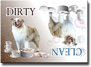 Australian Shepherd Dog Clean Dirty Dishwasher Magnet