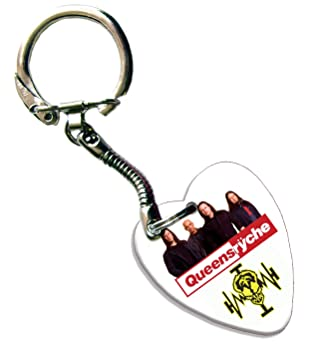 Queen sryche Love Heart Guitarra llavero Púa metálica ...