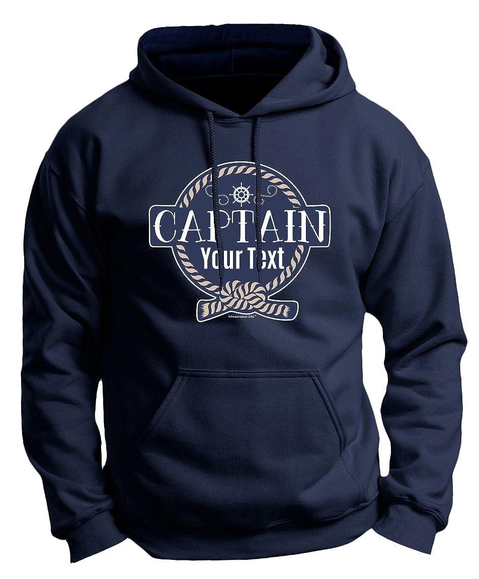 955932f2a89 Amazon.com  Personalized Boat Captain Sailing Boating Custom Premium Hoodie  Sweatshirt  Clothing