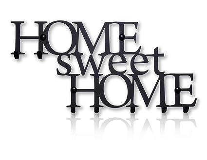 Colgador de Llaves de Pared Home Sweet Home (8 Ganchos ...