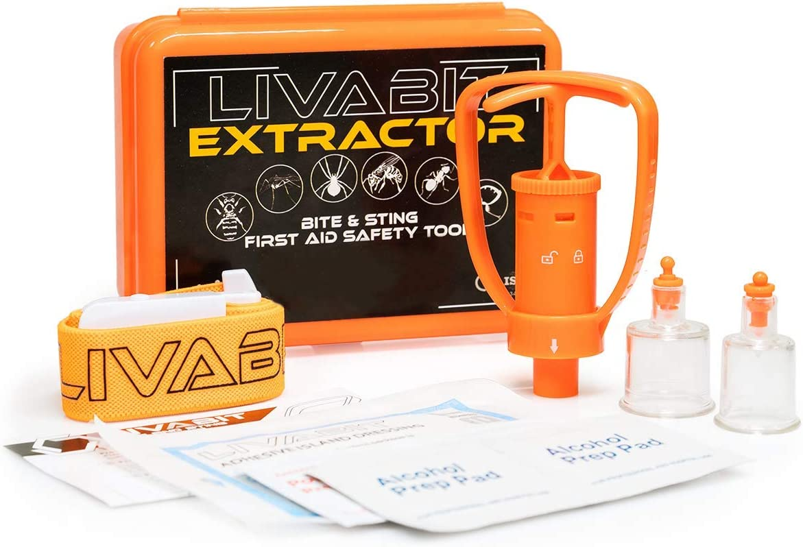Extractor Pump Kit Aid Safety Kit Snake Bug Bite Suction Out Poison Emergency