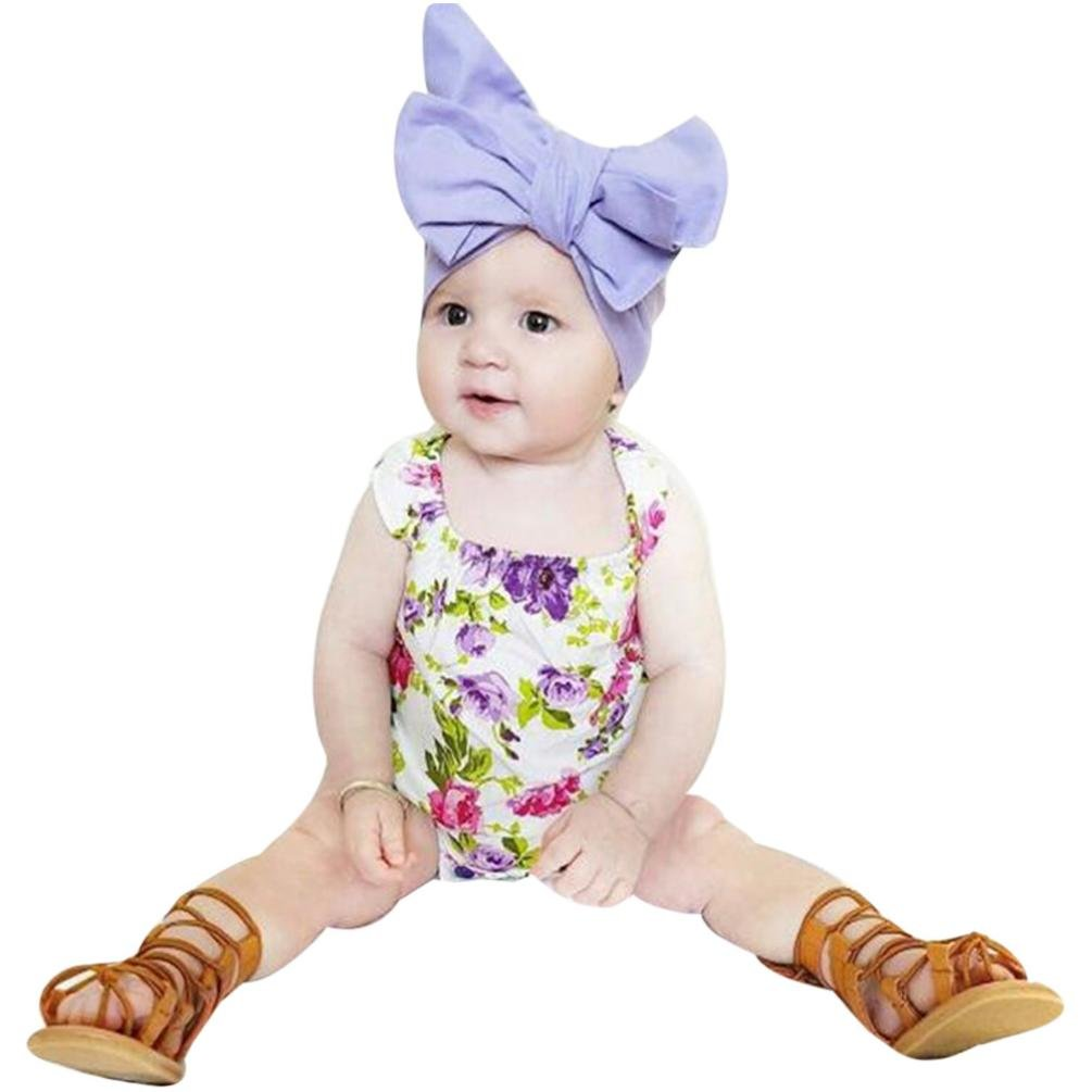 8697310b108e Amazon.com  Vibola Summer Baby Onsie Floral Short Sleeve Romper Jumpsuit  Outfits Clothes  Clothing