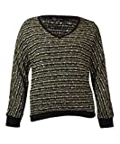 Sanctuary Womens Marled Knit V-Neck Sweater (XL, Black)