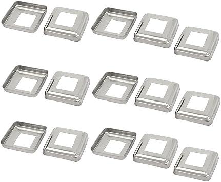 Aexit 15 unids Escalera Pasamanos Carril de mano 30 mm x 30 mm Poste Placa Cubierta (model: D1846IIIVII-8310EI) 201 Acero inoxidable: Amazon.es: Bricolaje y herramientas