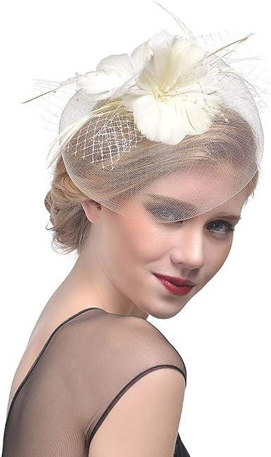 Flower Hair Clip Fascinator Women Tea Party Church Kentucky Derby Fancy Hat