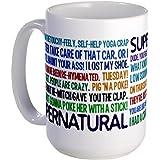 "11 ounce Supernatural TV Show Mugs Large Mug - Standard Multi-color 12.95 """