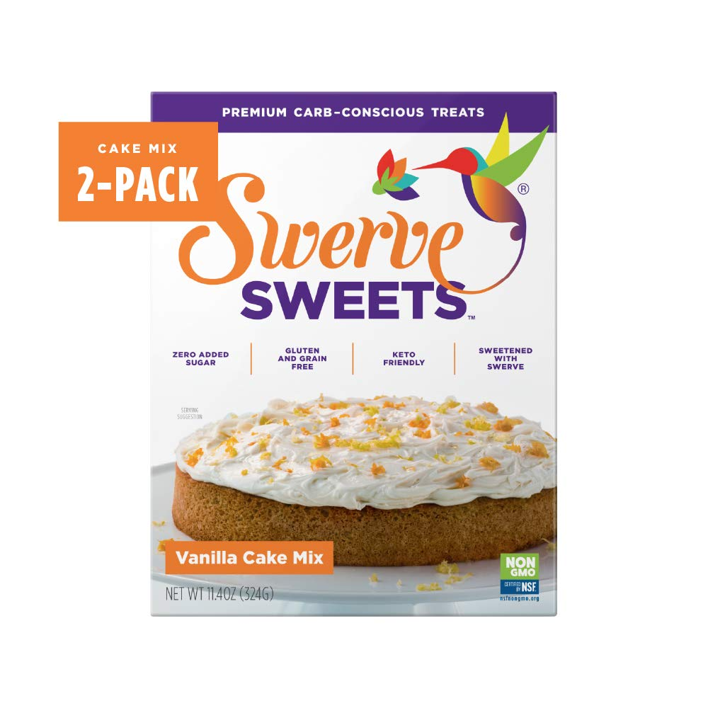 Swerve Sweets, Vanilla Cake Mix, 11.4 ounces (Pack of 2)
