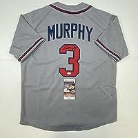 $94 » Autographed/Signed Dale Murphy Atlanta Grey Baseball Jersey JSA COA
