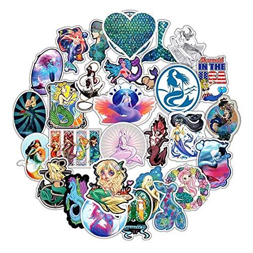 Honch Vinyl Mermaid Stickers Pack 50 Pcs Decals for Teen Girl Laptop Ipad Car Luggage Water Bottle Helmet Truck]()
