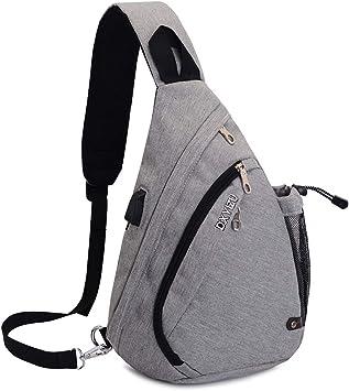 Sac Poitrine SINOKAL Sac Bandouliere Poitrine Casual bandoulière épaule triangle packs sacs pour les hommes femmes Canvas sacs photo numérique avec