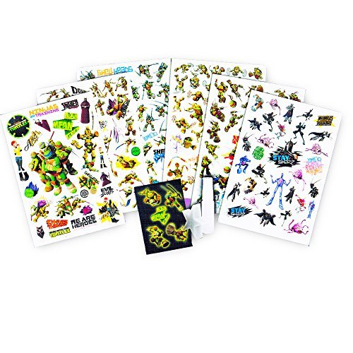 UPC 712411767334, Teenage Mutant Ninja Turtles Party Supplies Tattoo Set -- Over 200 TMNT Temporary Tattoos, Spray Bottle and Tattoo Application Sponge