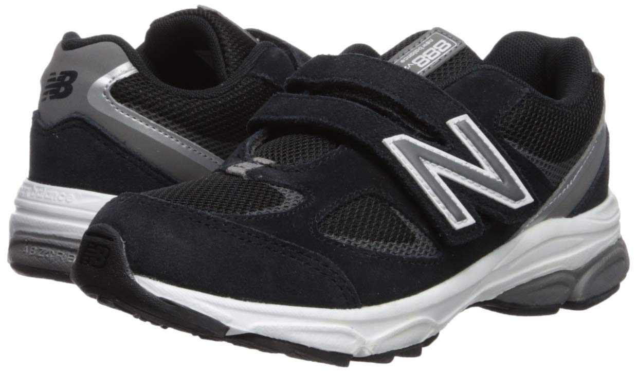 New Balance Boys' 888v2 Hook and Loop Running Shoe, Black/Grey, 2 XW US Infant by New Balance (Image #6)
