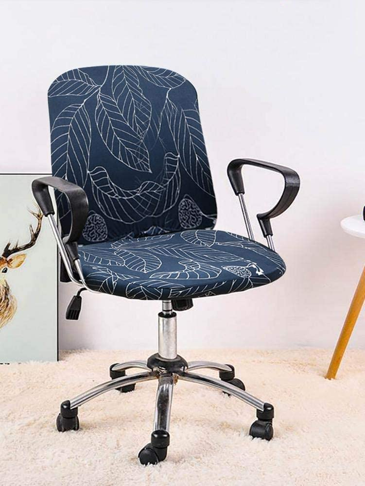Amovible Lavable Usual Housse de Chaise de Bureau Extensible Couverture de Chaise dordinateur Housses de Chaise tournantes S-tubit Housse Fauteuil Bureau