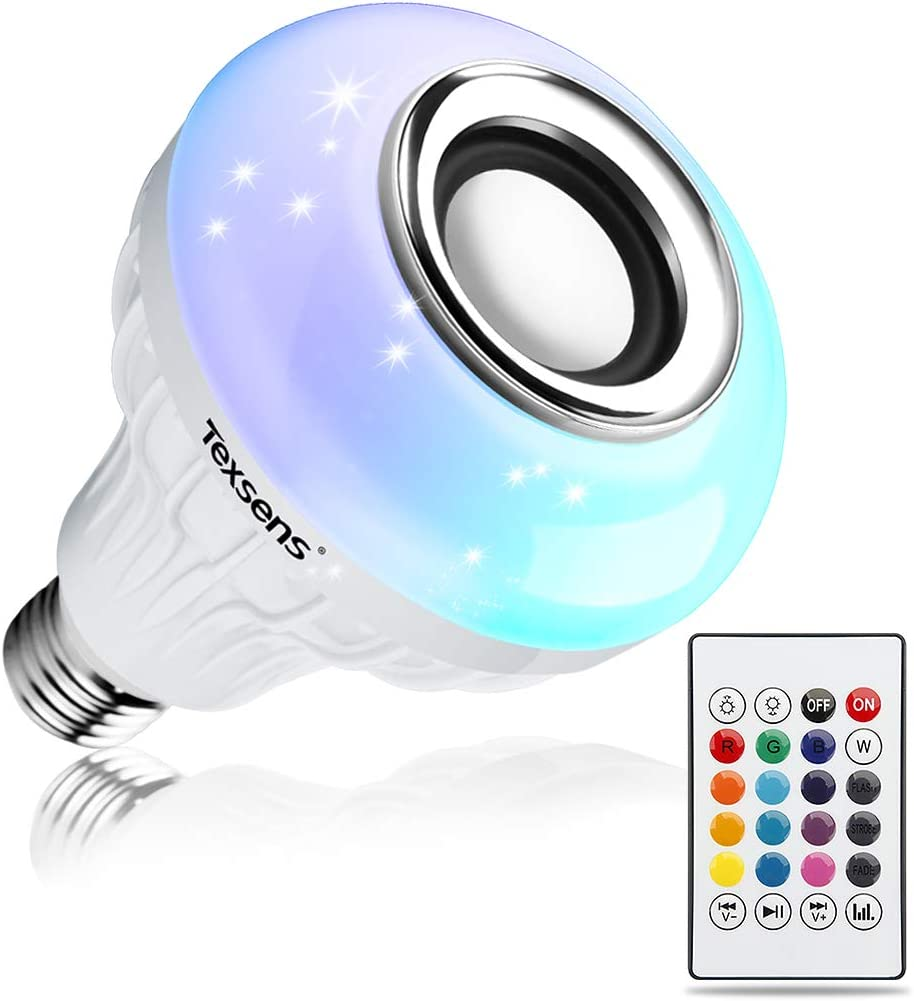 Texsens LED Light Bulb Bluetooth Speaker