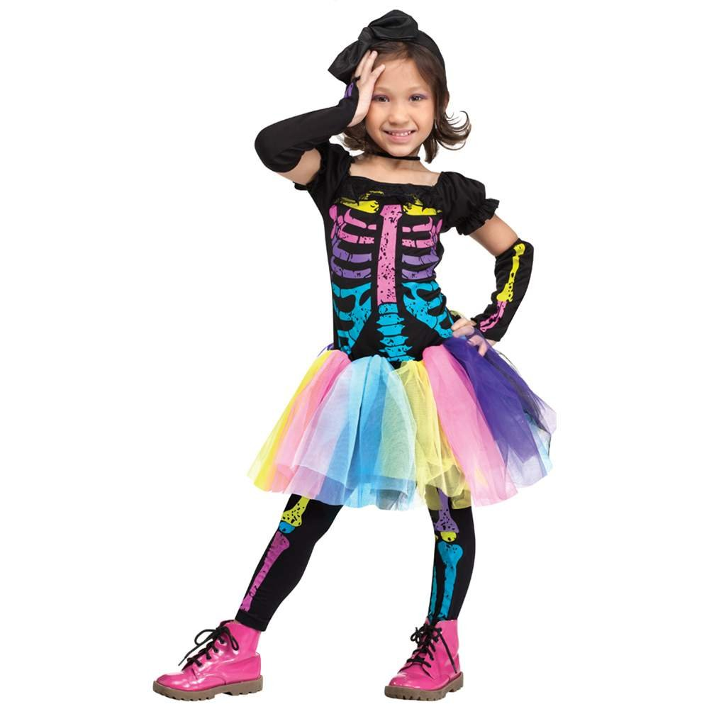 amazoncom funky punk skeleton toddler costume toys games - Skeleton Halloween Costume For Kids