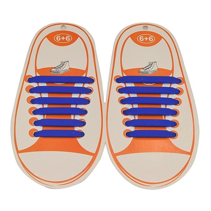 Zhien No Tie Lacci per Scarpe Elastici per Bambini Impermeabile in Silicone  Lacci Sportive 4c06f44cd88
