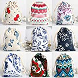 CORCIO 18Pcs Burlaps Bags with Drawstring, Fabric Gift Bag Packing Storage Linen Burlap Jewelry Pouches Sacks for Wedding Party Shower Birthday Christmas Jewelery DIY Craft,4.0 x 5.0 Inch
