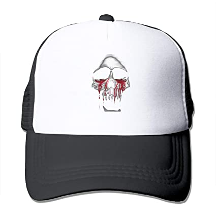2d533bdf7a1 Image Unavailable. Image not available for. Color  ASDGEGASFAS Skull Blood  Unisex Adult Baseball Mesh Cap ...