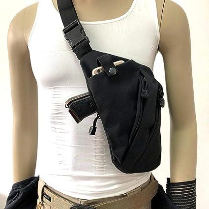 Portable Carry Handgun Bag Holster Nylon Tactical Airsoft Pouch Pistol Revolver