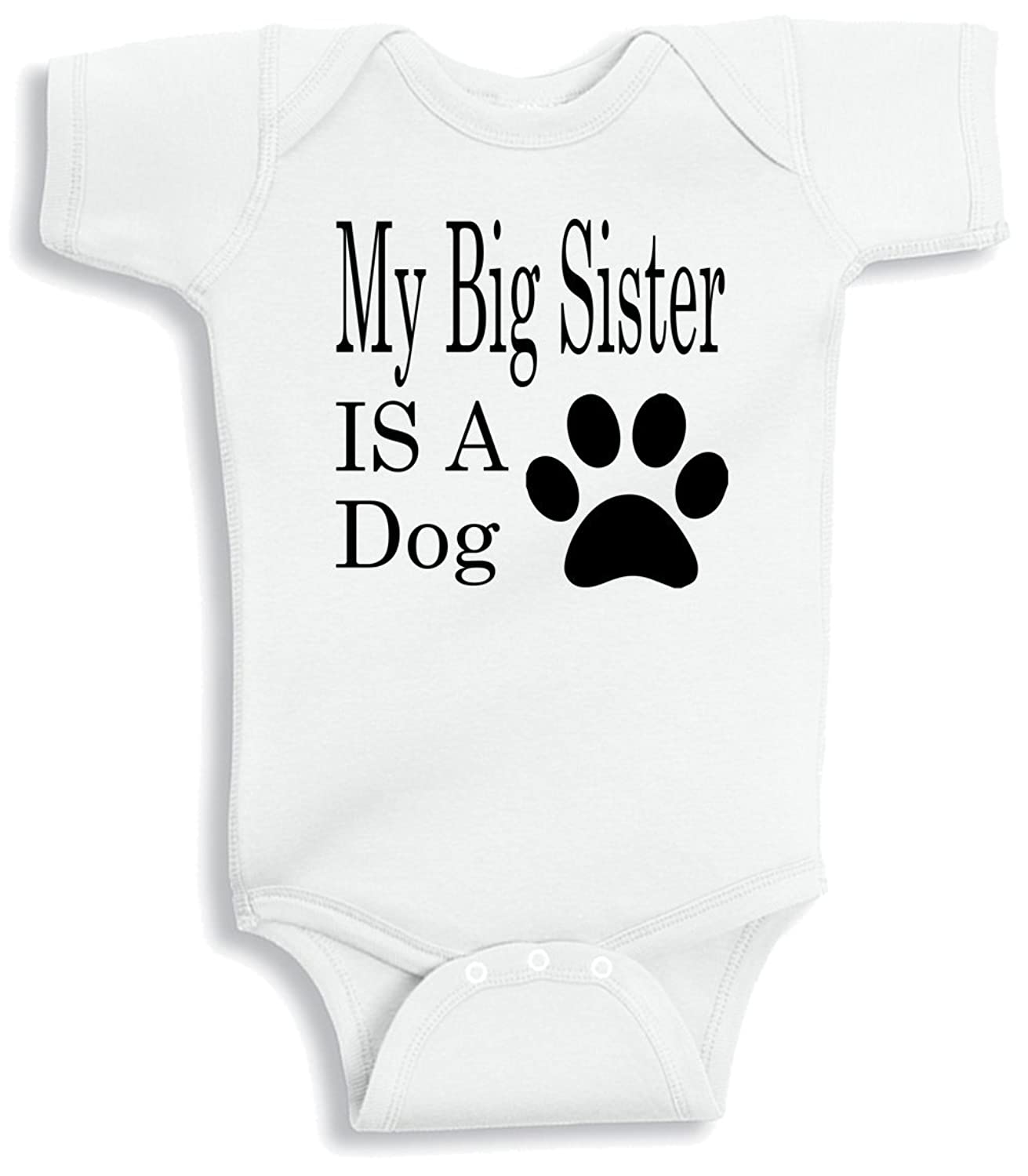 Amazon Lil Shirts My Big Sister Is A Dog Baby Bodysuit Clothing