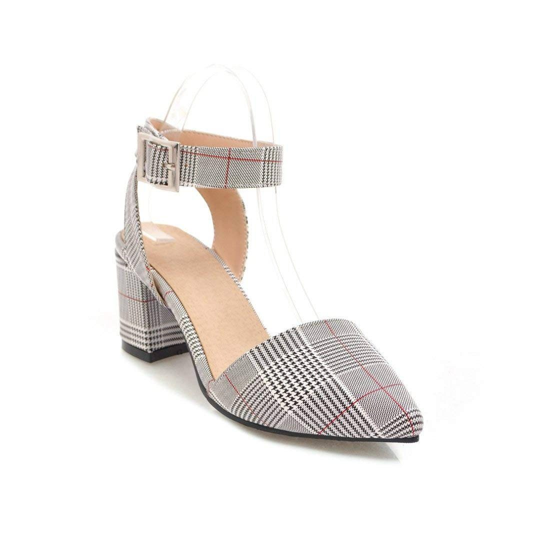 LADIES MID HEEL EVENING COURT SHOES ANKLE STRAP PARTY POINTED TOE SANDALS 3-8