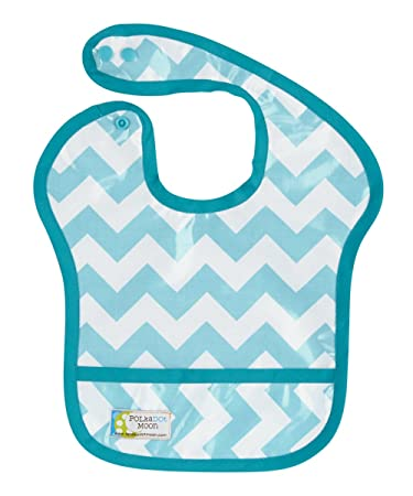 678be42ef353b Amazon.com: Waterproof-Wipeable-Laminate Baby Boy Bib- Aqua and ...