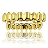 JINAO 18K Gold Plated Gold Finish 8 Top Teeth & 8
