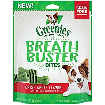 GREENIES Breath Buster Bites - 11 oz. Bag, Makes a Great Stocking Stuffer for Your Dog from Greenies