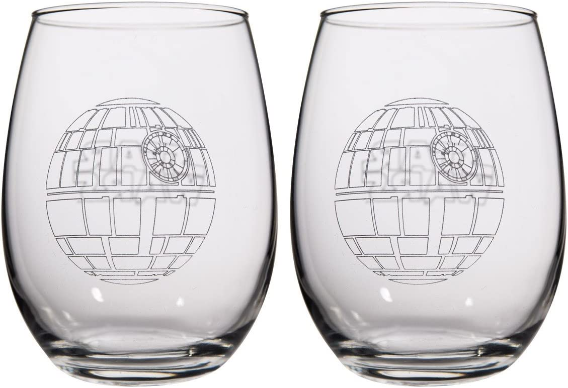 Star Wars Collectible Wine Glass Set (Death Star)