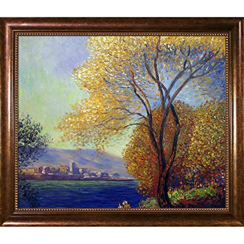(Hand-Painted Reproduction of Claude Monet Antibes, View of Salis Framed Oil Painting, 20 x 24)