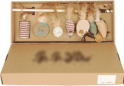 Caja de regalo conjunto palo divertido gato (conjunto de 7 ...
