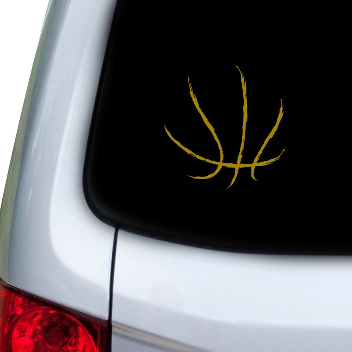 Yellow Hoods StickAny Car and Auto Decal Series Basketball Lines Sticker for Windows Doors