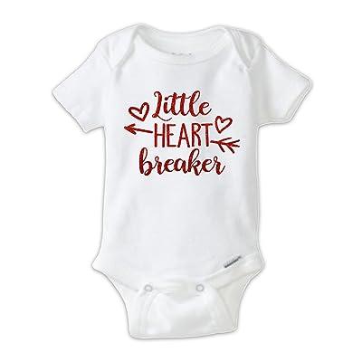 Juju Apparel Little Heart Breaker Red Glitter Baby Bodysuit