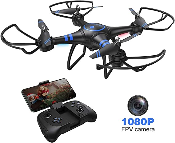 AKASO A31 Drone with Camera WiFi 1080P FPV Live Video RC Quadcopter Drone for Beginners Adults Kids