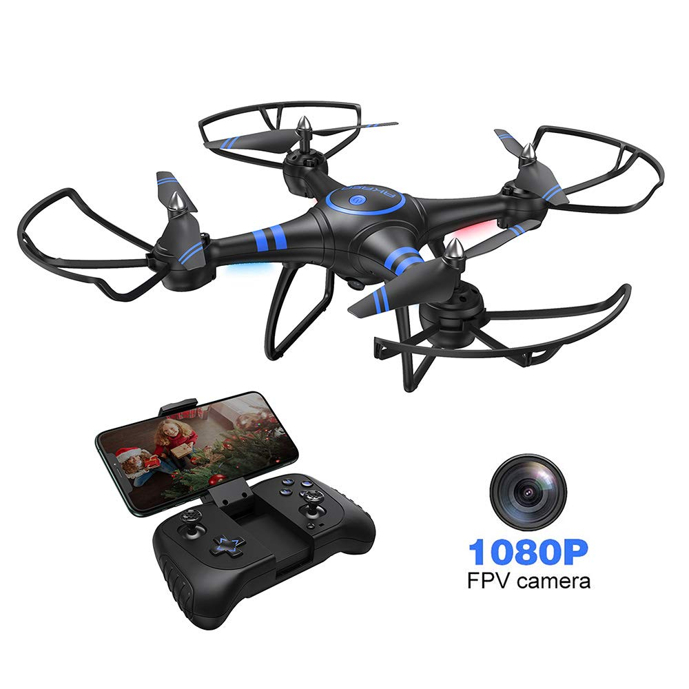 AKASO A31 Drone with Camera WiFi 1080P FPV Live Video RC Quadcopter Drone for Beginners Adults Kids, Bright LED Light, Altitude Hold, Headless Mode - Easy to Fly Gift Toy for Boys and Girls