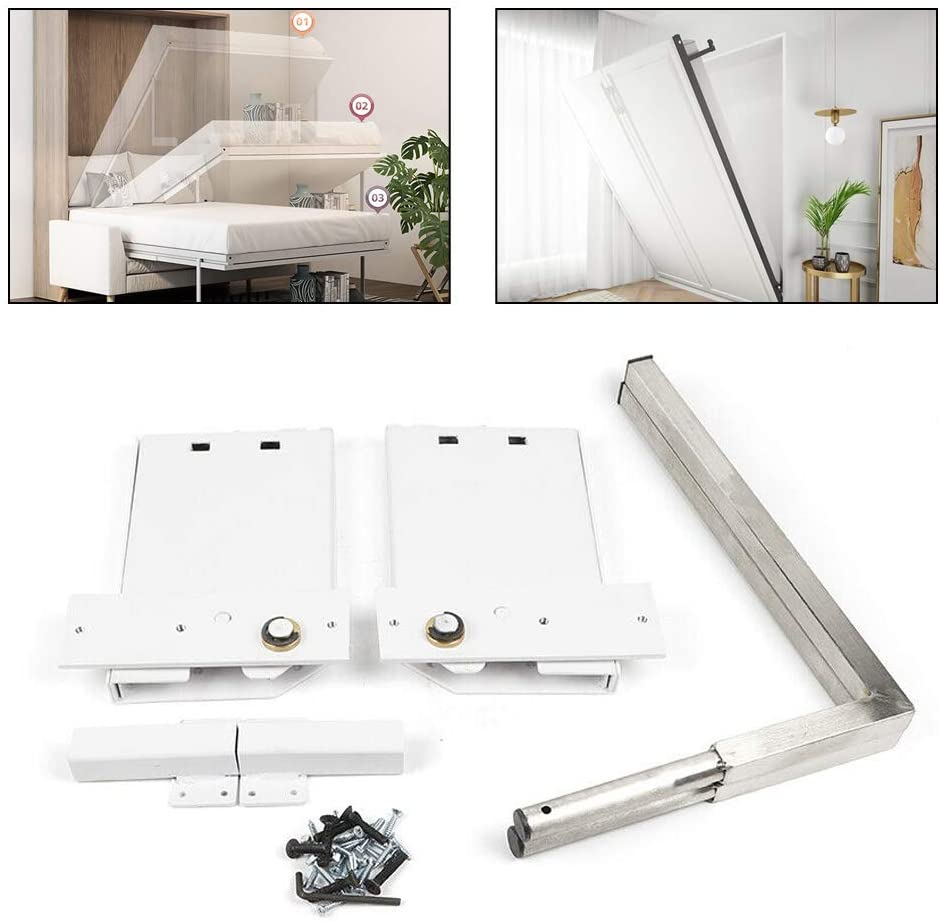 RanBB DIY Murphy Bed Hardware Kit, Queen-Size Wall Bed Mechanism Hardware Kit for Horizontal Wall Mount
