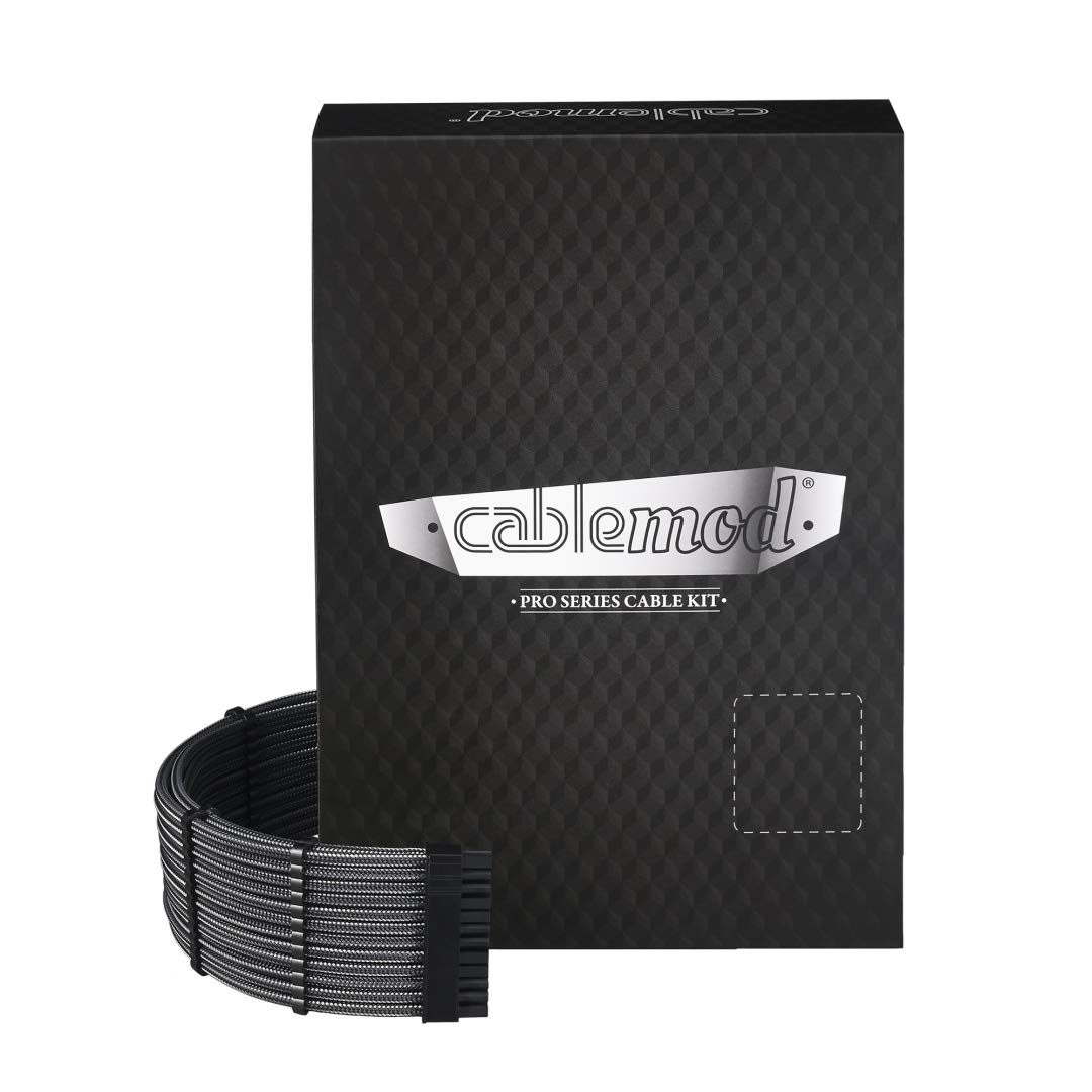 CableMod RT-Series PRO ModMesh Cable Kit for ASUS and Seasonic - Carbon [cm-PRTS-FKIT-NKC-R] by CableMod
