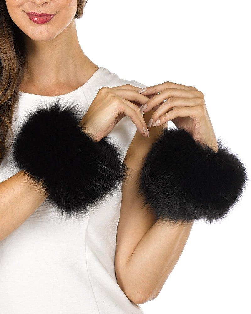 Fur Slap on Cuffs - Black Fox Fur by Frr (Image #3)
