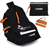 HEAVY DUTY Car Seat Travel Bag by Bear Century – BONUS: Luggage Name Tag - Fit Most Carseat Models Including Backpack Straps, Side Pocket and Storage Pouch– Ideal for Airport Gate Check