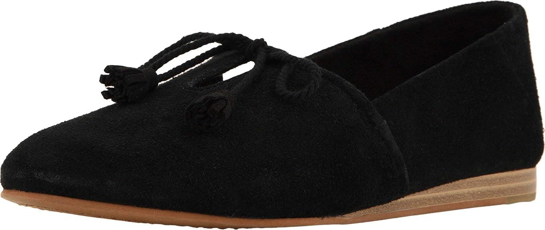 Buy TOMS Women's Kelli Suede Flat Black