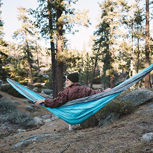 Wise Owl Outfitters Camping Hammocks – Portable Hammock Single or Double Hammock for Outdoor, Indoor w/ Tree Straps…