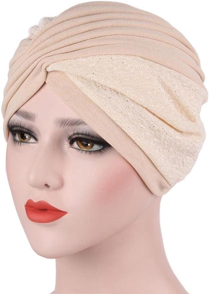 Fabal New Women Turban Beanie Hat Bonnet Chemo Cap Muslim Scarf Hijab Lslamic Turbante