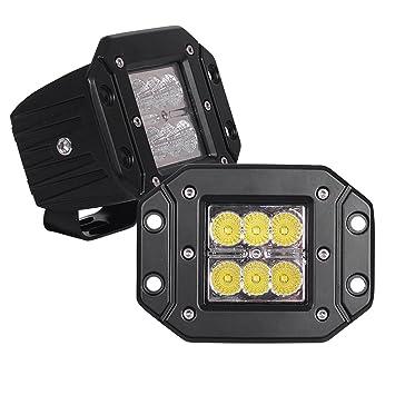 Amazoncom JAHURD Flood LED Work Light bar for truck2PCS 5 Inch
