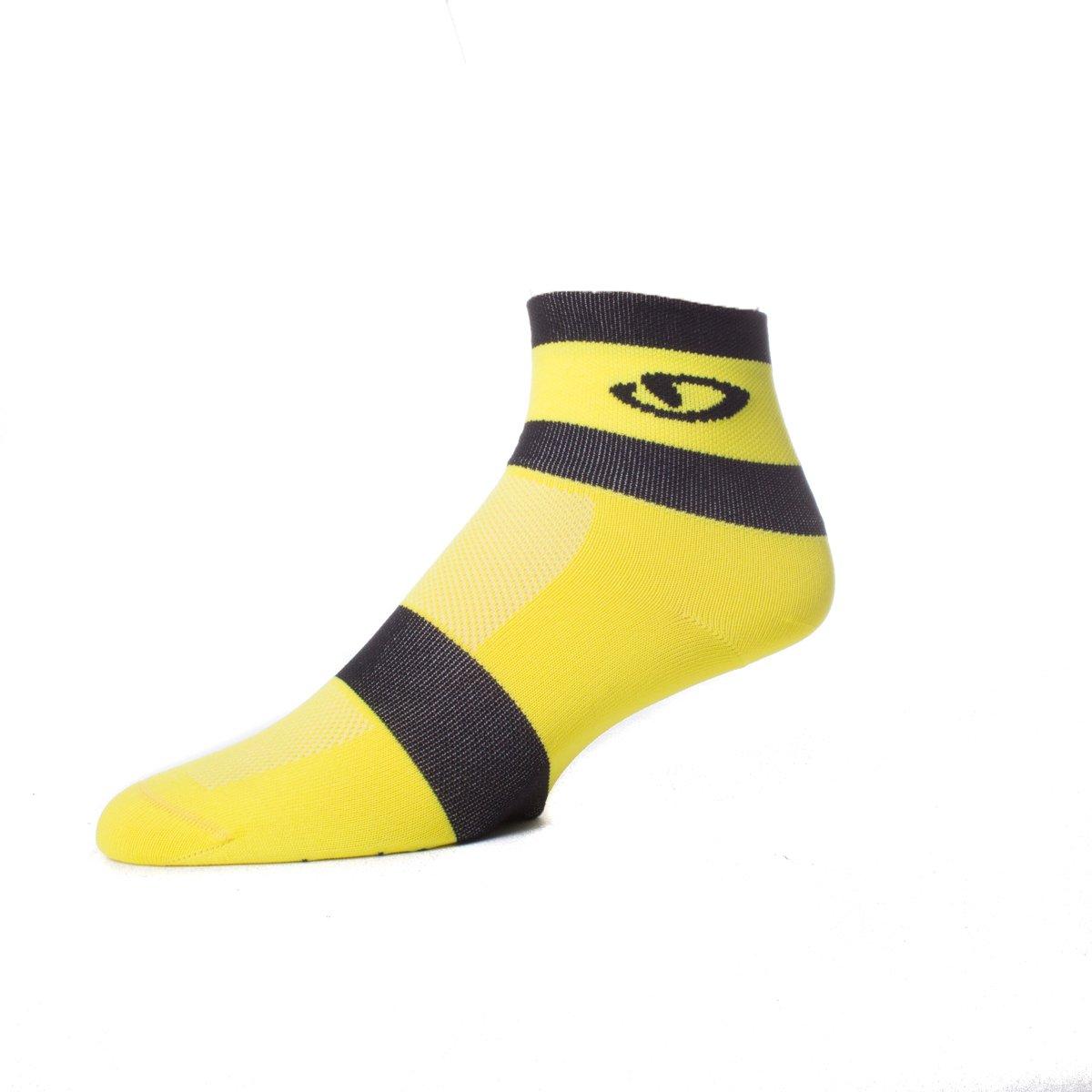 Giro Comp Racer Socks Highlight Yellow/Black, S - Men's