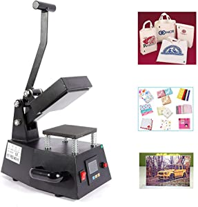 Heat Press Machine, 110V Digital Heat Press Machine Single Heater DIY Logo,Label,Sticker 110V 12x12cm (US Fast Shipping)