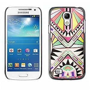 Be Good Phone Accessory // Dura Cáscara cubierta Protectora Caso Carcasa Funda de Protección para Samsung Galaxy S4 Mini i9190 MINI VERSION! // Ancient Art Pattern White