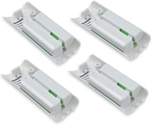 4-Pack Rechargeable Battery Packs for Wii and Wii U Remote Controller,High-Capacity Ni-MH Battery(2800mAh) Replacement for Nintendo Wii Remote Charging Station(Charger not Included)